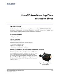 Use of Entero Mounting Plate Instruction Sheet - Christie Digital ...