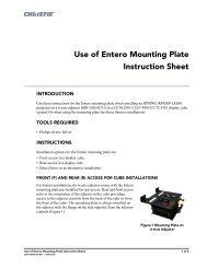 Use of Entero Mounting Plate Instruction Sheet - Christie Digital ...