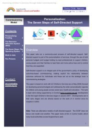 The Seven Steps of Self-Directed Support - Commissioning Support ...