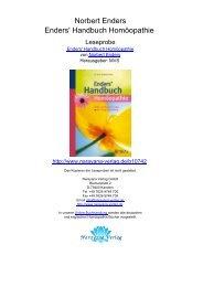 Norbert Enders Enders' Handbuch Homöopathie