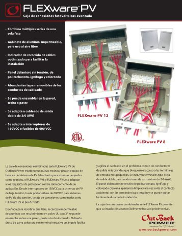 FLEXwareTM PV - OutBack Power Systems