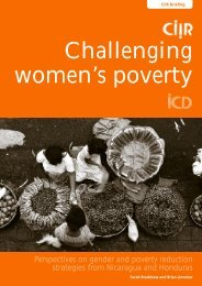 Challenging women's poverty: Perspectives on gender - Progressio