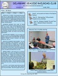 June Newsletter 2012 - Delaware SeaSide Railroad Club
