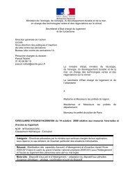 Ministère de l'écologie, de l'énergie, du ... - Circulaires.gouv.fr