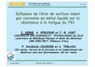 Influence de l état de surface induit par corrosion en métal liquide ...