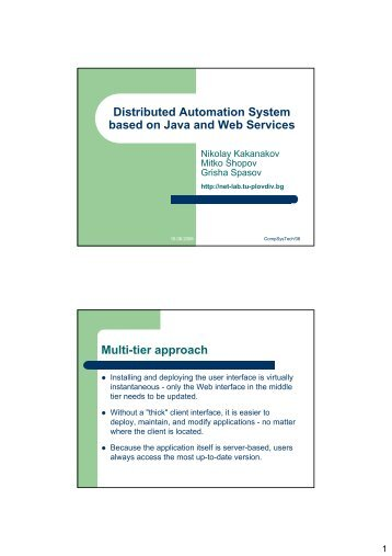 Download presentation as PDF - Distributed Systems and Networking