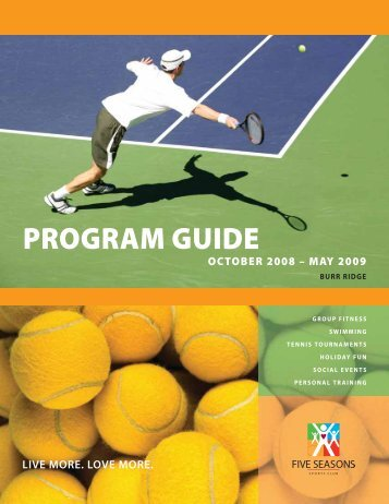PROGRAM GUIDE - Five Seasons Sports Club