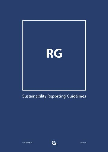 Sustainability Reporting Guidelines - Global Reporting Initiative