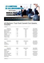 #3 Migliora i Tuoi Punti Carenti Con Questo Sistema - Ultimate Italia