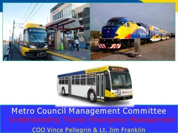 Continuity of Operations Project (COOP) Transit
