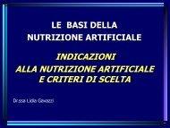 INDICAZIONI ALLA NUTRIZIONE ARTIFICIALE E CRITERI ... - Ipasvi