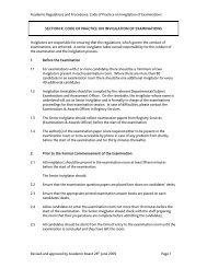 Code of Practice on Invigilation
