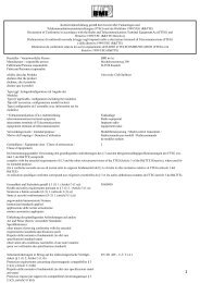 Konformitätserklärung gemäß dem Gesetz über ... - BMI-models