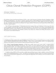 2008 CCPP Georgios Vidalakis - Citrus Research Board