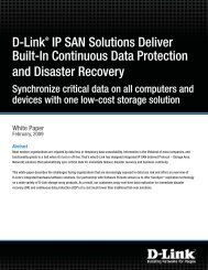 D-Link San Solutions - Guarantee Business Systems