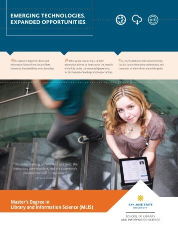 View Brochure - San Jose State University School of Library and ...