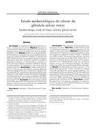 Estudo epidemiológico do câncer de glândula salivar ... - ABCCMF