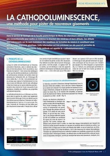 La cathodoLuminescence, - Université de Mons