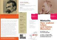 Nietzsche. Vom wahren Leben und letzten Menschen