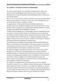 Der Lageplan in der Systemorientierten Sozialpädagogik - Institut für ...