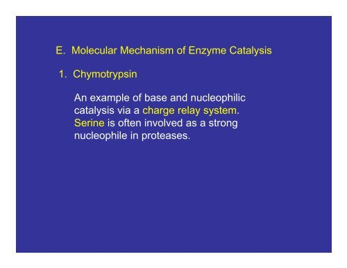 Enzymes and Enzyme Kinetics - Mechanism/Inhibition - CMBE
