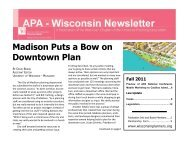 Fall 2011 - American Planning Association, Wisconsin Chapter