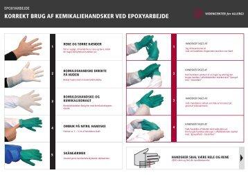 Lær at tage handsker af uden at der kommer epoxy på huden