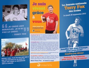 2013 FRE NSRD Brochure-lo - Terry Fox Foundation