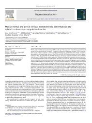 Neuroscience Letters Medial frontal and dorsal cortical ...