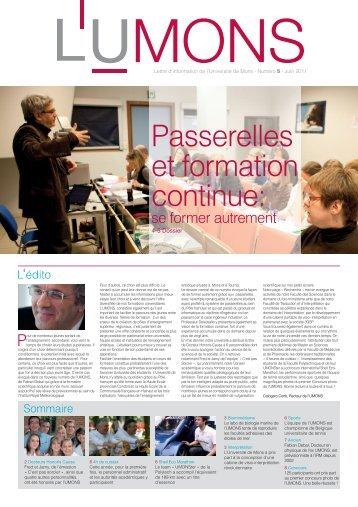 L'UMONS n°5 - Université de Mons