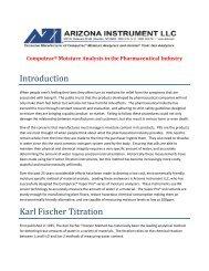 Relative Humidity (RH) Sensor Technology - Arizona Instrument