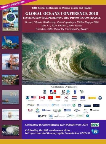 Draft conference program - Global Ocean Forum