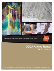 annual review fy 11 - Delaware Center for the Contemporary Arts