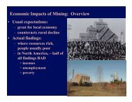 Economic Impacts of Mining: Overview