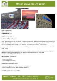 FC Bayern Fußballpaket - Eventreisen - Trierischer Volksfreund