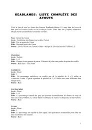 Deadlands - Liste complète des Atouts
