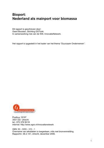 Bioport: Nederland als mainport voor biomassa - Port of Rotterdam