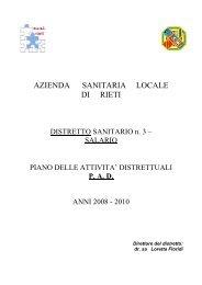 PAD Distretto n. 3 - Azienda USL Rieti