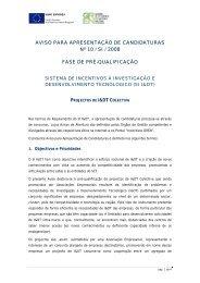 Aviso de Abertura n.º 10/SI/2008 - Qren