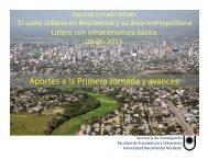 Presentación 2da Jornada - Facultad de Arquitectura y Urbanismo