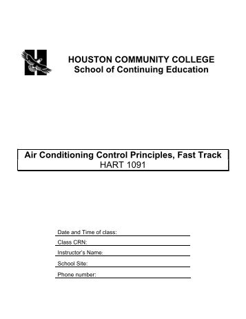 HOUSTON COMMUNITY COLLEGE School of Continuing Education