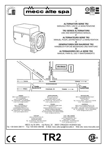 I alternatori serie ar1 gb ar1 series mecc alte spa i alternatori serie tr2 gb tr2 series mecc alte spa asfbconference2016 Image collections
