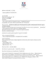 Annonce publiée le 27 JUILLET 2011 Avis de marché ... - Tarascon