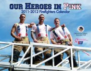 2011-2012 Firefighters Calendar - Making Strides Against Breast ...