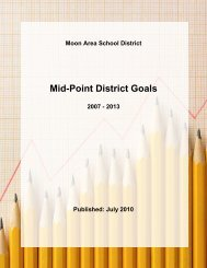 Stategic Plan Mid-Point Workbook Review - Moon Area School District