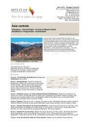 Asie centrale - Arts et Vie