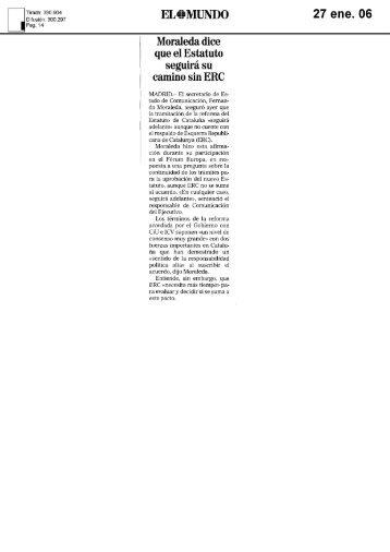 """Moraleda tacha el Manifiesto COPE de """"trazo grueso"""" usado para la ..."""