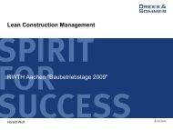 Lean Construction Management Schritt 3 - IBB