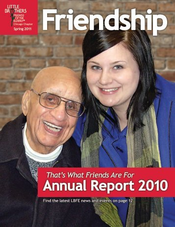 That's What Friends Are For Annual Report 2010 - Little Brothers