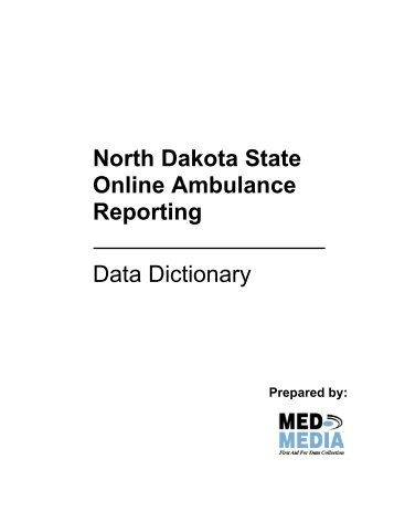 State Data Dictionary - North Dakota Department of Health